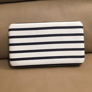 Target Clasp Striped Clutch/Wallet